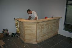 Great tutorial on building a home bar                                                                                                                                                                                 More