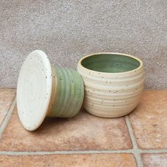 This useful crock is designed to keep your butter fresh and soft at room temperature. The lid has a hollow flange where you should pack the butter in. This lid is turned upside down while serving butter, but kept in the pot when not. Butter Crock, Butter Dish, Throwing Clay, Kitchenware, Tableware, Hand Thrown Pottery, Pottery Wheel, Stoneware Clay, Ceramic Pottery