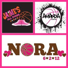Basketball Themed Bat Mitzvah Logos by PARTY FAVORITES #batmitzvah #batmitzvahlogo