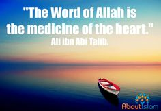 The word of Allah is the medicine of the ❤️ Islamic Phrases, Islamic Messages, Islamic Quotes, Sufi Saints, Imam Ali Quotes, Hazrat Ali, Inspire Quotes, Way Of Life, Deen