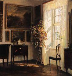 A sunlit interior, Carl Vilhelm Holsøe. Danish (1863 - 1935)