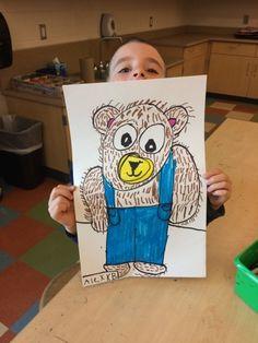Kindergarten shape and texture corduroy bears