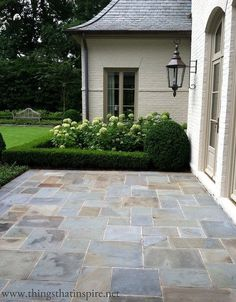 Decorative Patio Tiles Mesmerizing Paver Patio In A Small Spacebrick Bordered Planting Areas Design Inspiration