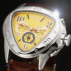 18.99$  Buy now - http://ali98u.shopchina.info/go.php?t=32237107098 - 2016 JARAGAR Luxury Orologio Uomo Watch Yellow Triangle Auto Mechanical Watches Men 6-hands Automatic Wristwatch Free Ship 18.99$ #aliexpresschina