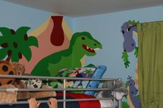 boys dinosaur room paint ideas | ... his closets so his room is perfect for play space!, Boys' Rooms Design