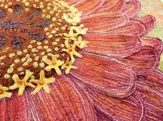 Corinne is a textile artist from East Yorkshire, with a BA (Hons) in Textile Design. Free Machine Embroidery, Embroidery Art, Art Connection, Young Art, Natural Forms, Zinnias, Textile Artists, Fabric Art, Textile Design