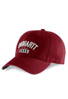 f7e92bc47c6 Carhartt Mens Mercury Dark Red Cap