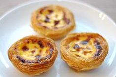 Portuguese custard tarts. I add a dash of all spice to mine and not as much vanilla essence!
