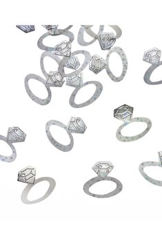 Silver rings confetti available in packs. Wedding Confetti, South Africa, Silver Rings, Shopping, Jewelry, Jewlery, Bijoux, Schmuck, Jewerly