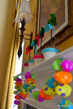 What to do with plastic eggs from the dollar store!