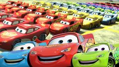 100 COLORS CARS Lightning McQueen EPIC PARTY DANCE