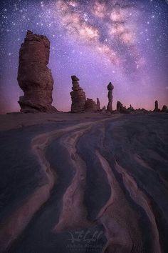 The Milky Way in the desert