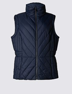Chevron Sleeveless Padded & Quilted Gilet