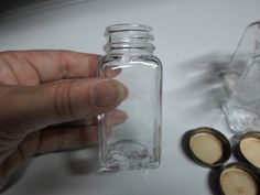 Vintage (5) Small Glass Jars Bottles With Metal Screw Caps For Displaying or Supplies Storage Square New Price by KimsKreations17 on Etsy https://www.etsy.com/listing/126502696/vintage-5-small-glass-jars-bottles-with