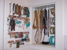 jewlery storage between studs | jewelry storage between studs | ... To Store Your Jewelry....love the ...