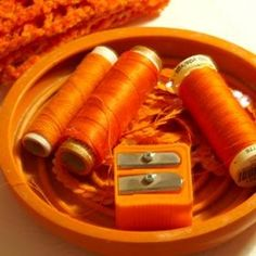 orange thread, orange things