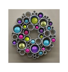Spring Wreath - PVC Wall Art by RedSketchDecor on Etsy
