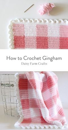 How to Crochet Gingham #crochetpattern