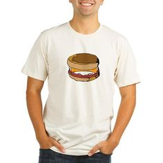 Breakfast Sandwich Organic Cotton Men's  Fitted T-Shirt by OrganicTShirtShop on Etsy