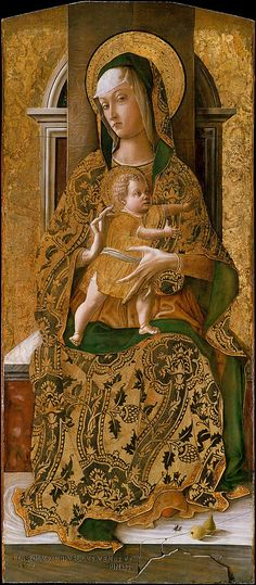 Madonna and Child Enthroned - Carlo Crivelli