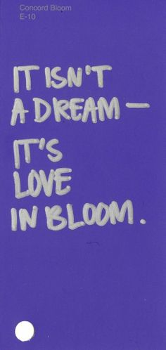 "Concord Bloom, E-10 Lyric from ""Love In Bloom"" by Bing Crosby #ColorsOfLove"