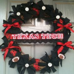 Texas tech wreath