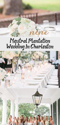 Neutral Plantation Wedding in Charleston - Inspired By This #BridesmaidDressesMint #BridesmaidDressesBoho #TanBridesmaidDresses #TealBridesmaidDresses #BridesmaidDressesIndian
