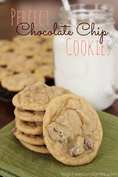 Perfect Chocolate Chip Cookies. These really are the best #chocolate chip #cookies you'll ever eat in your life. I haven't found another recipe that can top it! http://www.highheelsandgrills.com/2013/03/perfect-chocolate-chip-cookies.html