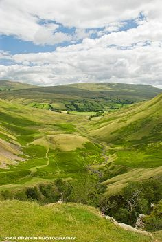 View from Cautley Spout, Sedbergh in the Howgills, Sedbergh, Cumbria, England