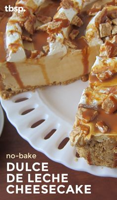 A rich and creamy no-bake caramel cheesecake on a Cinnamon Toast Crunch™ and graham cracker crust. This impressive-looking dessert only takes 20 minutes to prep, but we won't tell if you don't.
