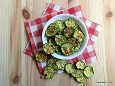 Zucchini Chips - 5 Minute Microwave Recipe or Bake in the Oven