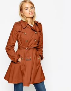 Asos | Trench With Utility Detail In Skater Fit | $117