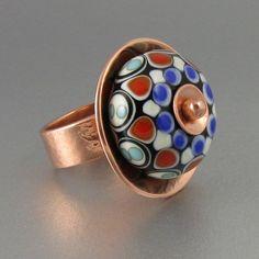 Bowerbird Studio/Tabitha Pearson: Handmade lampwork glass bead set in copper. (scheduled via http://www.tailwindapp.com?utm_source=pinterest&utm_medium=twpin&utm_content=post16890566&utm_campaign=scheduler_attribution)
