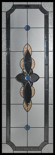 Stained Glass Door Inserts - Winton 22x64 Stocked by Randal's Wrought Iron & Stained Glass serving the Greater Toronto Area and surrounding areas.
