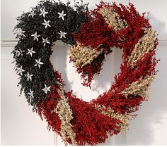 Americana Heart Wreath, Patriotic & 4th of July Crafts (sorry, no link)