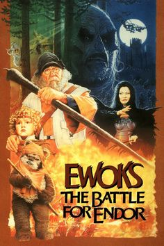 Ewoks: The Battle for Endor.one of two Ewok movies made after Star Wars. Star Wars Poster, Star Wars Art, Cuadros Star Wars, Evil Witch, Ready Player One, Ewok, Streaming Movies, Movies To Watch, Movies Online