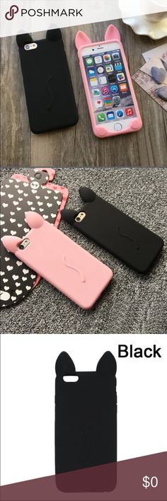 Cat Ears i Phone 6/6s Case Silicone Cat Ears i Phone 6/6s Case  Features: •Case is made out of smooth silicone •Flexible  •Comes with cute ears, tail, and feet details Accessories Phone Cases