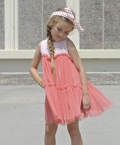 Look what I found on #zulily! Pink Princess Organza Dress - Girls by Pretty Cute #zulilyfinds