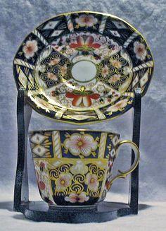 Royal Crown Derby Bone China Cup & Saucer Imari Pattern