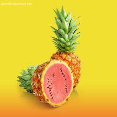 Pinemelon [photomanipulations] by C. Little Havana, Love Lips, Simple Wallpapers, Aesthetic Food, Amazing Flowers, Troll, Food Art, Art Inspo, Coffee Shop