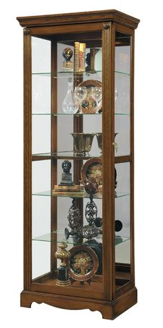 Glass Curio Cabinet LivingRoom Furniture Corner Shelf Collectibles Display Case