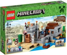 Recreate your Minecraft headquarters with the LEGO 21121 Minecraft The Desert Outpost Set. Hostile mobs are spawning like never before and the desert is becoming a very scary place to be, it's time to build The Desert Outpost. Lego Minecraft, Minecraft Video Games, Minecraft Party, Minecraft Skins, Minecraft Buildings, Lego Friends, Legos, Desert Biome, Figurine Lego