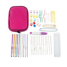 High Quality Aluminum And Silver Crochet Hooks 22Pcs/Set with Case - Free Shipping Worldwide