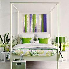 Large Art LAVENDER FIELDS 30x40x15 by Ora by orabirenbaum on Etsy, $325.00
