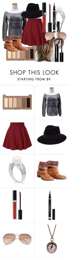 """""""Skirt in fall"""" by maralf-1 on Polyvore featuring Urban Decay, Maison Michel, Wet Seal, Christian Dior, Yves Saint Laurent, H&M, We Are All Smith and Bobbi Brown Cosmetics"""