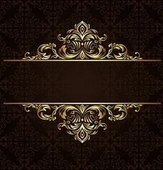 Find Vector Ornate Gold Border stock images in HD and millions of other royalty-free stock photos, illustrations and vectors in the Shutterstock collection. Flower Background Wallpaper, Framed Wallpaper, Flower Backgrounds, Royal Wallpaper, Name Card Design, Bussiness Card, Luxury Logo, Logo Design, Graphic Design