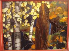 Aspen Trees stained glass window - Google Search