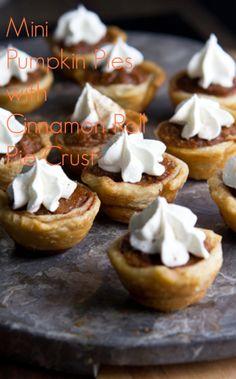 Mini Pumpkin Pies w/ Cinnamon Roll Pie Crusts! #pillsbury