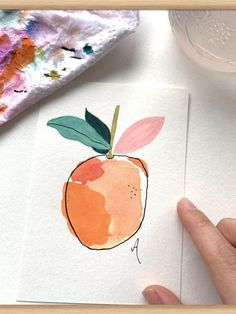 Drawing and painting with colours awesome Tagged with Paper art colours drawing fruit green nice orange painting white Painting Inspiration, Art Inspo, Easy Watercolor, Simple Watercolor Paintings, Watercolors, Abstract Watercolor, Simple Paintings, Watercolor Trees, Watercolor Landscape