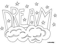 Word Dream Coloring Pages Printable And Book To Print For Free Find More Online Kids Adults Of